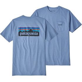 Patagonia M's P-6 Logo Pocket Responsibili-Tee Railroad Blue